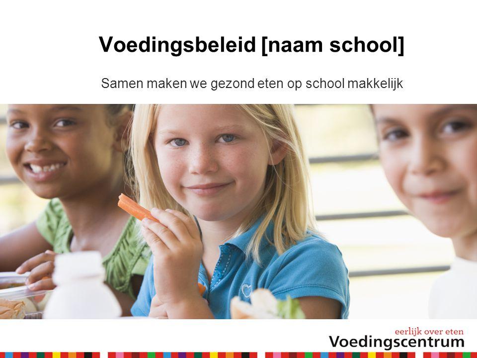 Voedingsbeleid [naam school]